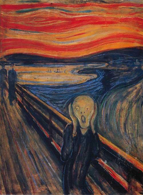 O Grito (Skrik no original) do norueguês Edvard Munch (1893)