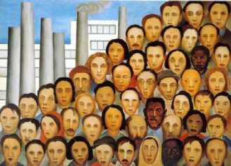 Operários, por Tarsila do Amaral
